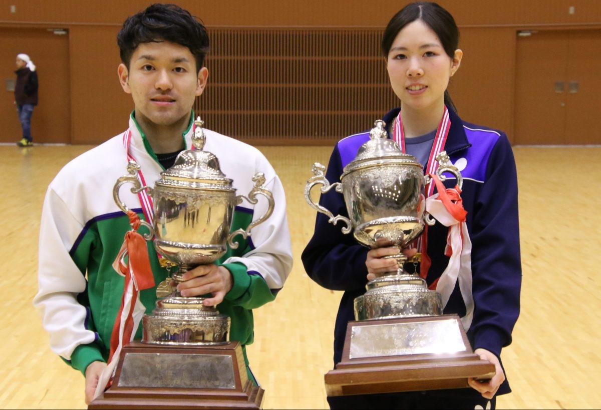 及川瑞基(専修大・写真左)と森田彩音(中央大・写真右)