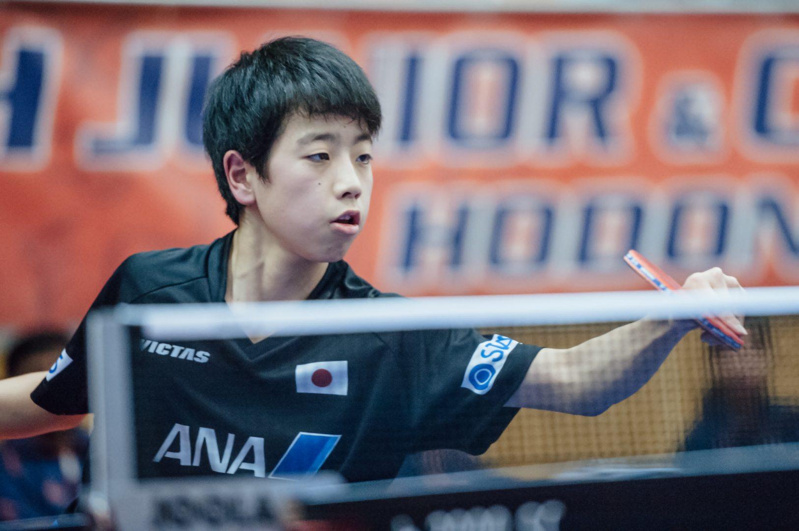 インハイ準V 篠塚大登、決勝トーナメント進出なるか<卓球・ポーランドオープン>