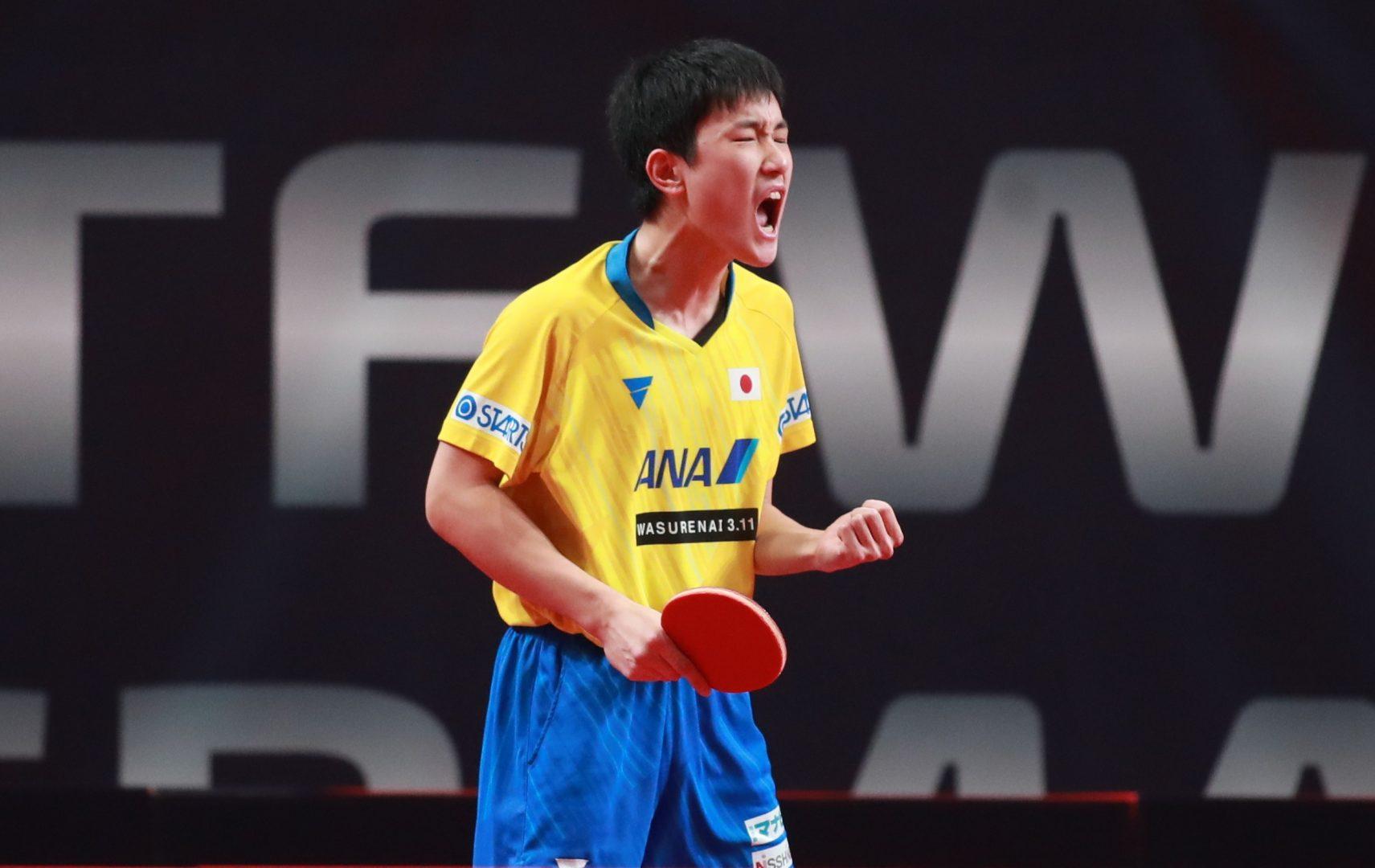 """張本智和のスーパーラリー、ITTF選出""""今日のベストポイント""""に<卓球・ドイツオープン>"""
