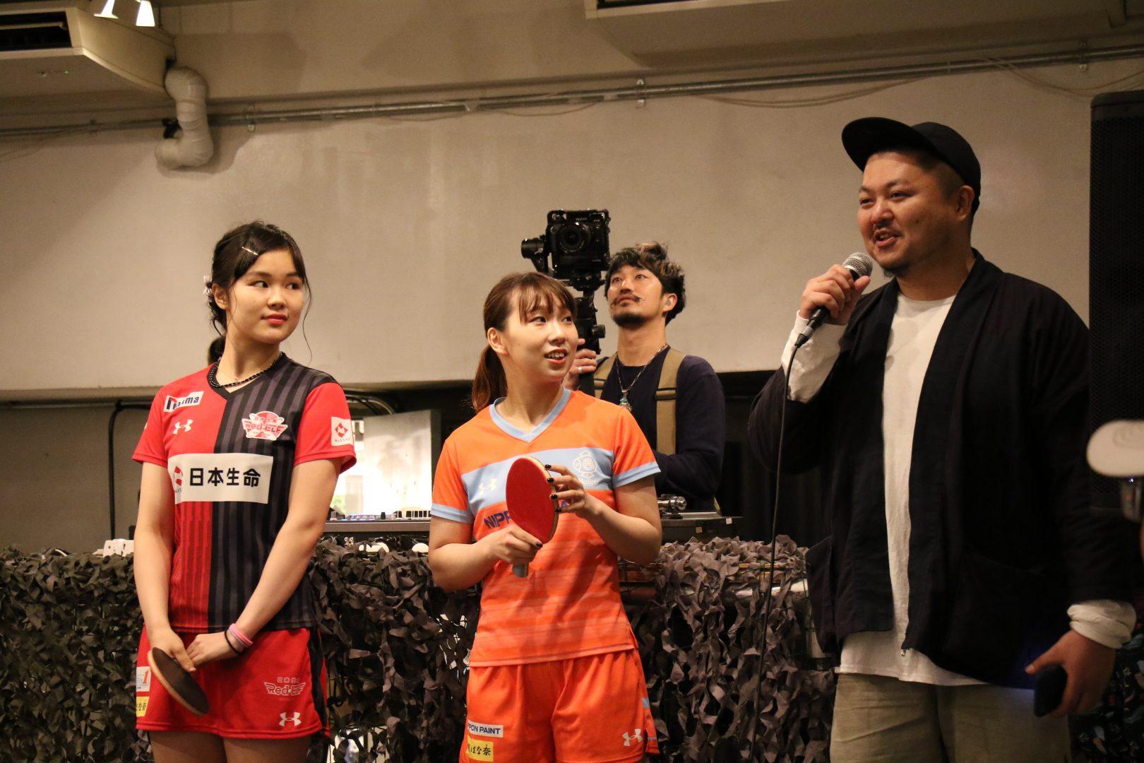 Tリーガー松平、皆川「とても新鮮」 卓球×ファッション×音楽イベント『OSAKA PIN-Q』開催