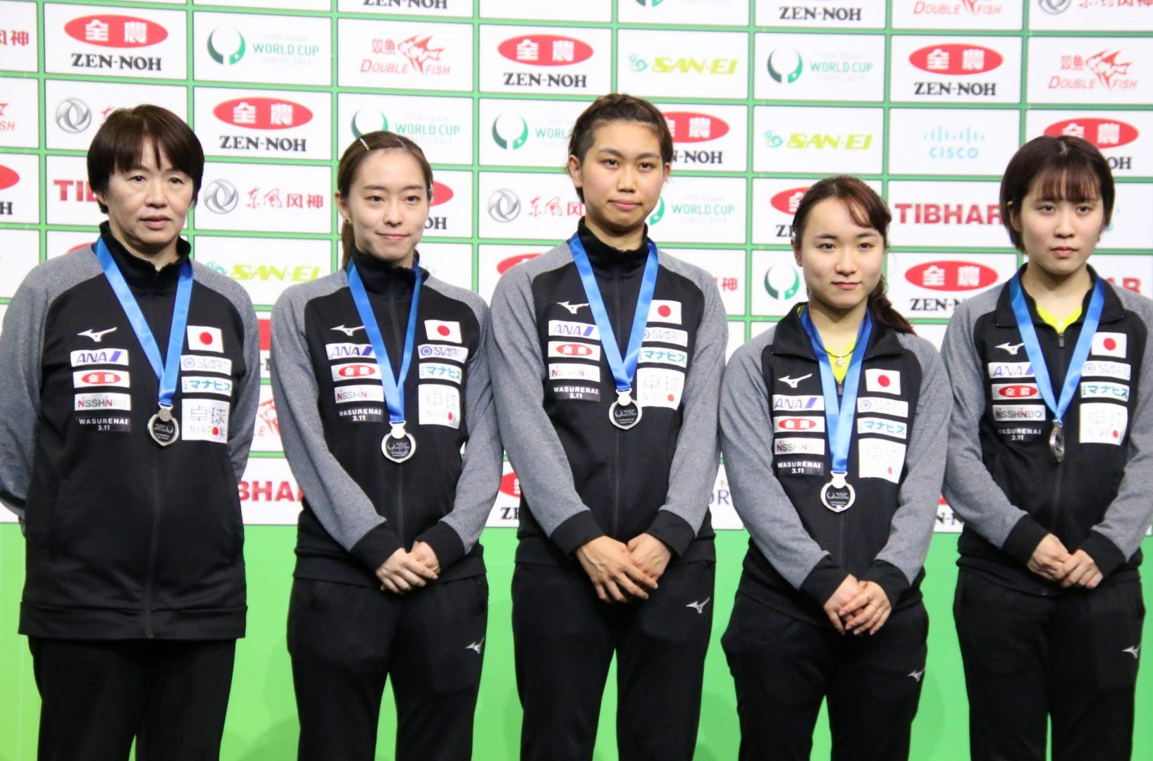 【今週の日本の卓球】男女ともにメダル獲得 チームワールドカップ東京大会 全日程終了