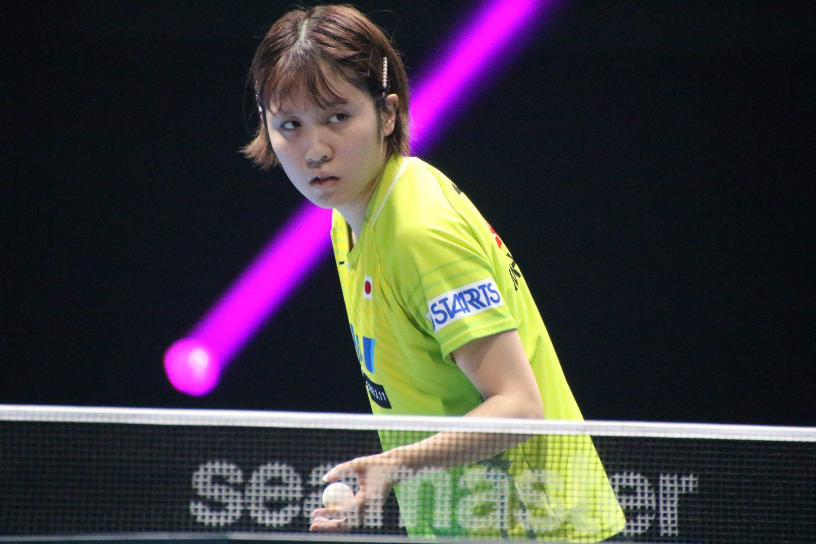 平野美宇「自分のプレーができなかった」 韓国選手に惜敗<卓球・T2ダイヤモンド>