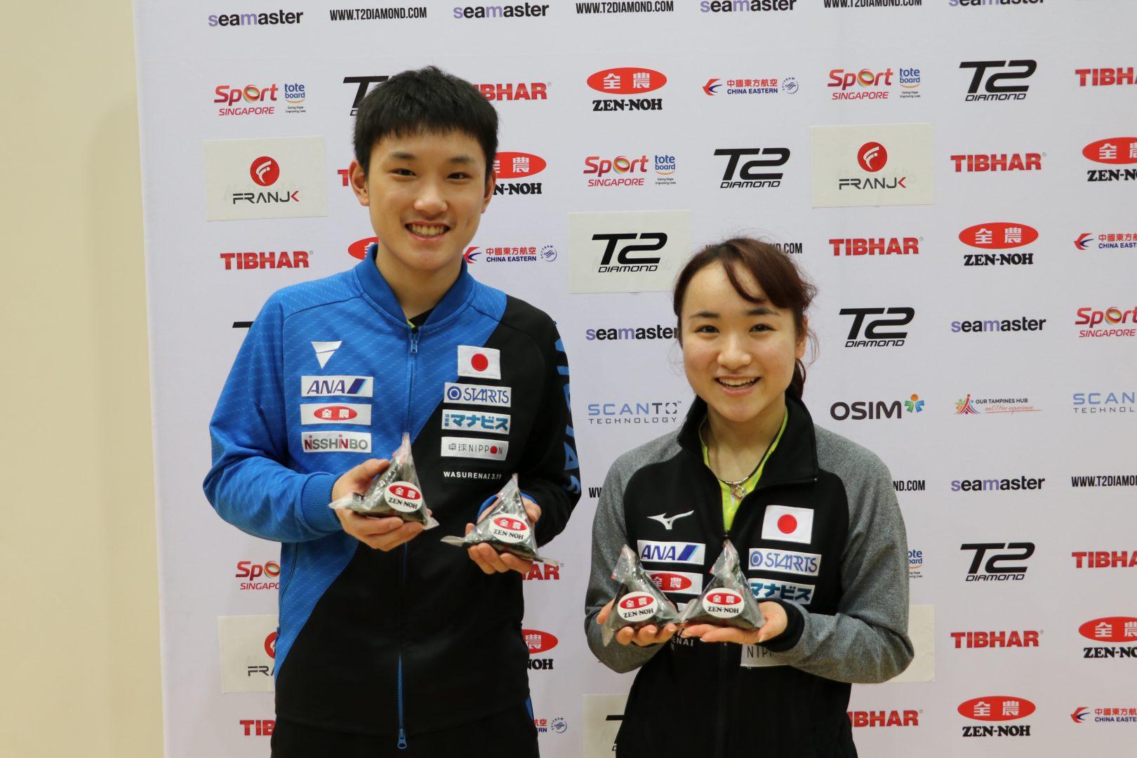 【卓球】T2ダイヤモンド、日本選手活躍の裏側にあった「おむすび」と「いなり寿司」