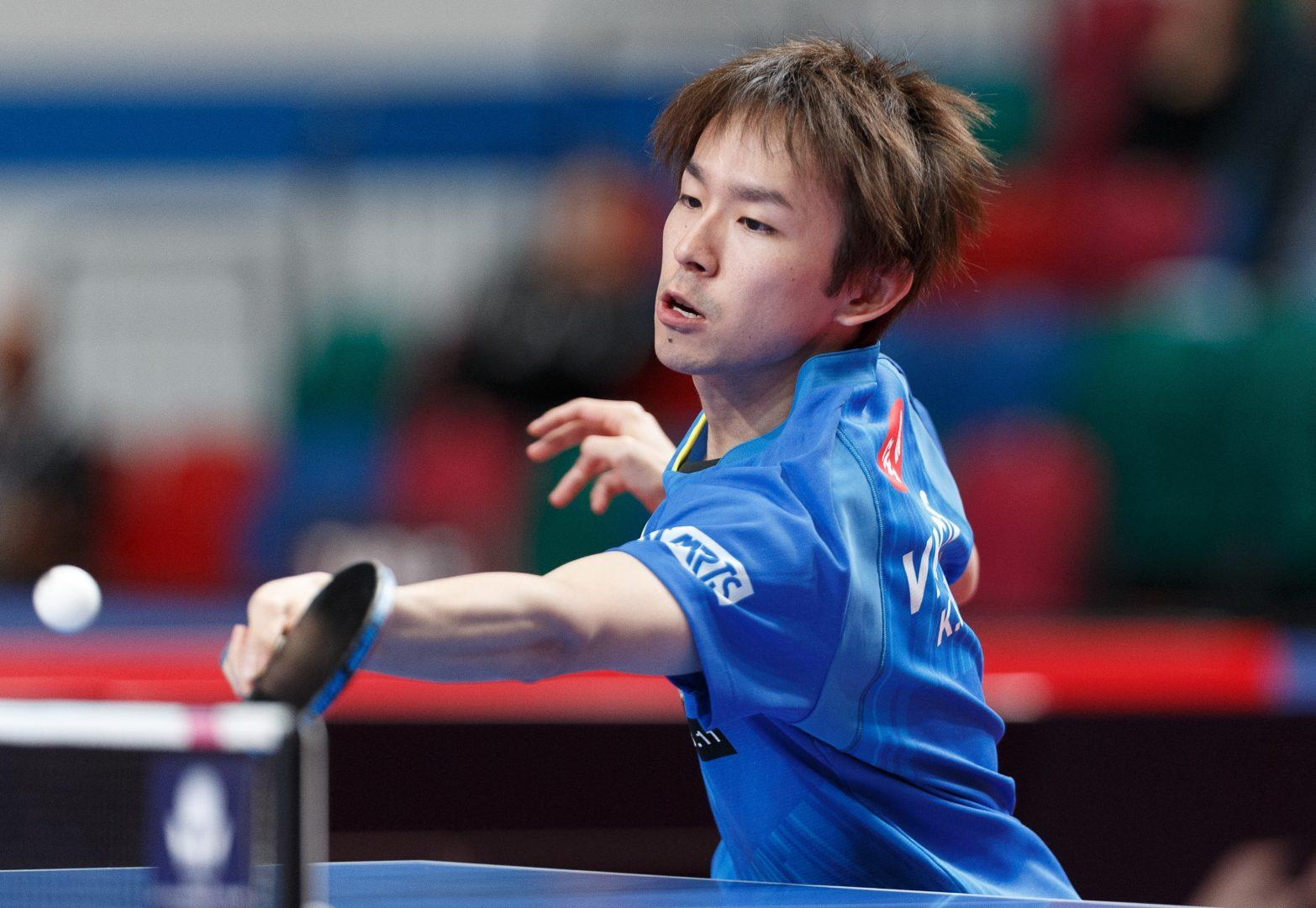 丹羽孝希、世界卓球銀メダリストに勝利 ガッツポーズ見せ準々決勝へ<オーストリアオープン>