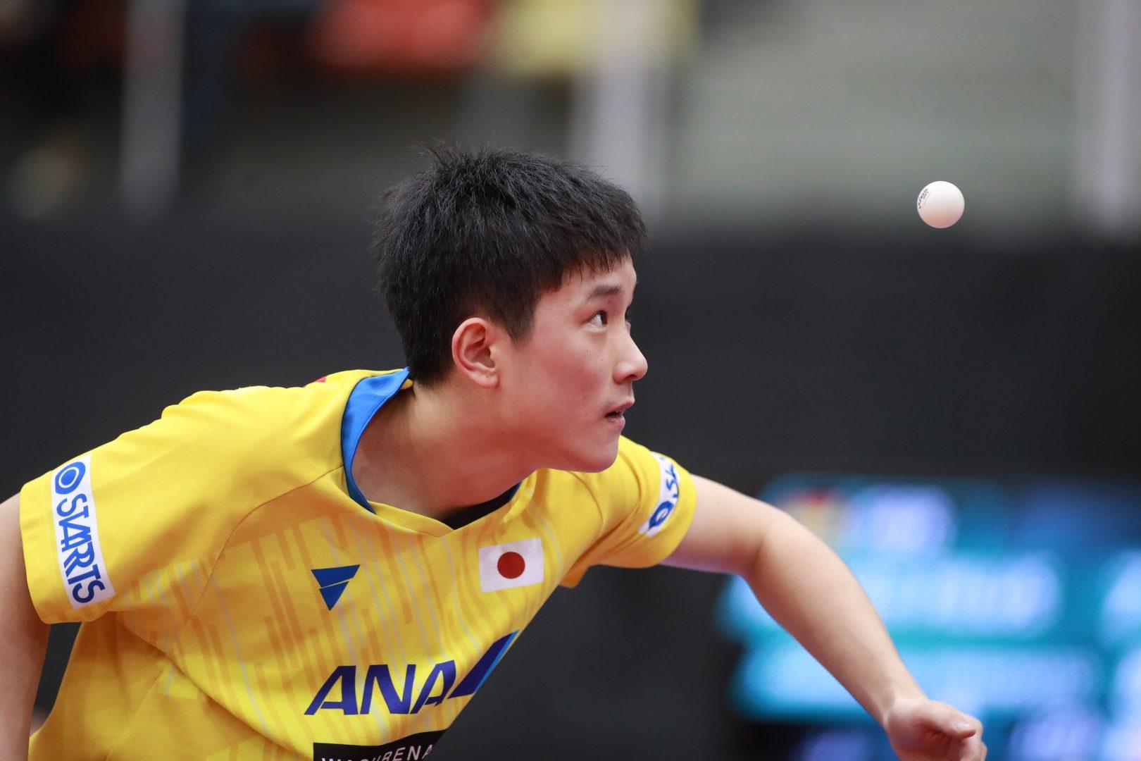 張本智和、大熱戦制せず チームW杯のリベンジ許す<卓球・オーストリアオープン>