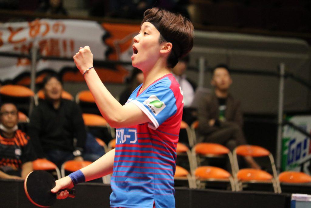 力強いプレーで1点をあげた杜 凱琹選手(KA神奈川)