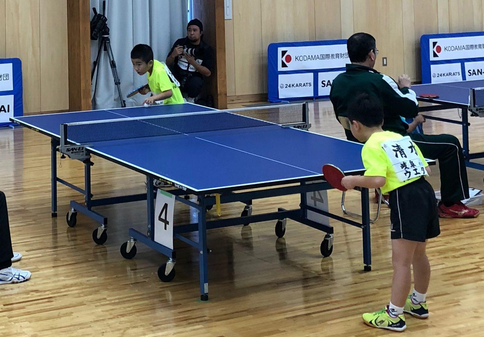 7歳以下で卓球強化合宿 アスリートの低年齢化進む