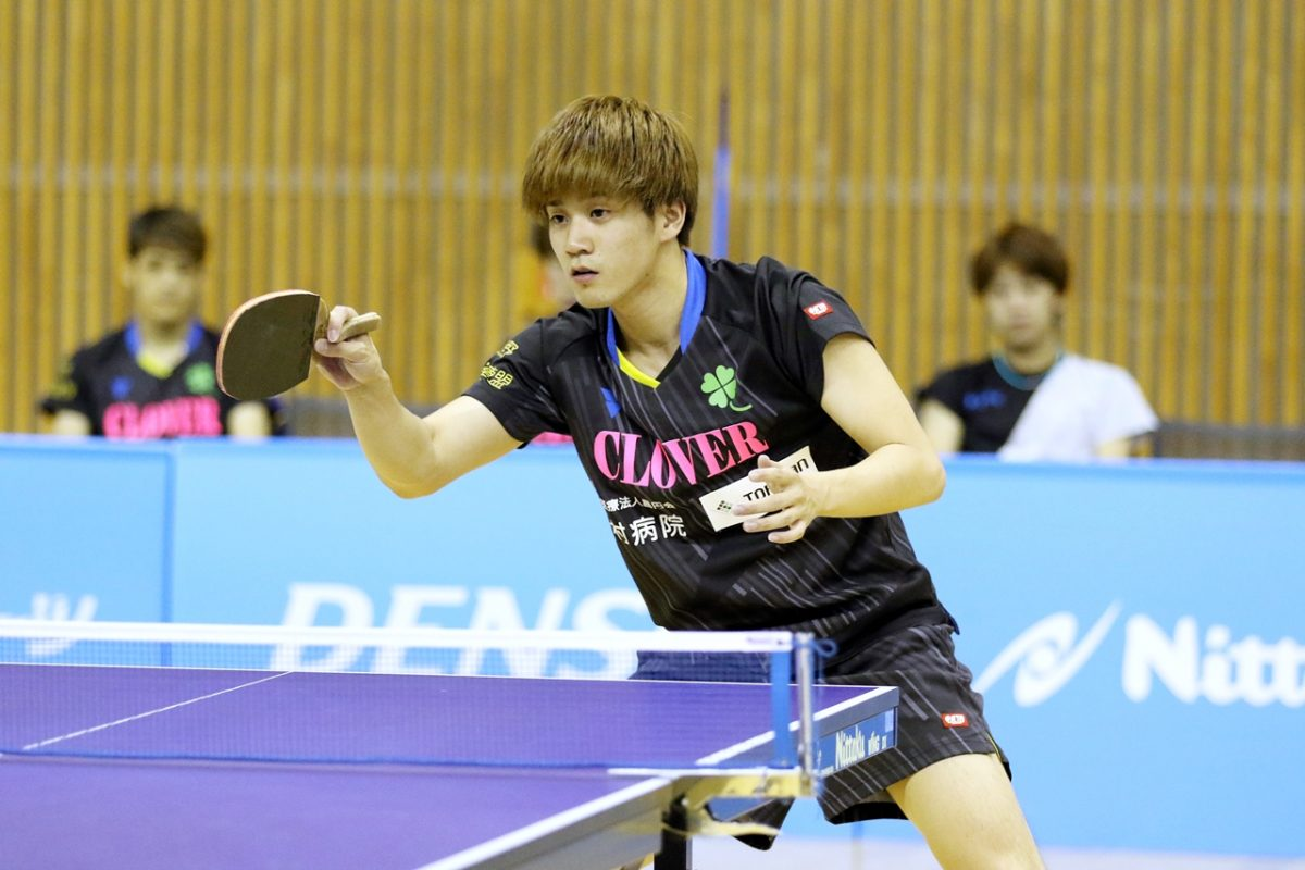 写真:松下大星(クローバー歯科カスピッズ)/提供:日本卓球リーグ実業団連盟