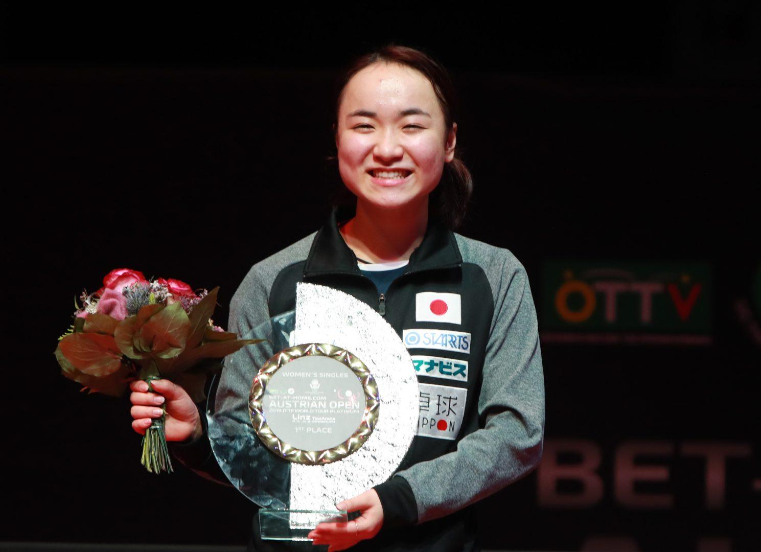 卓球・伊藤美誠、今年活躍したアスリート4位に 平野、石川もランクイン