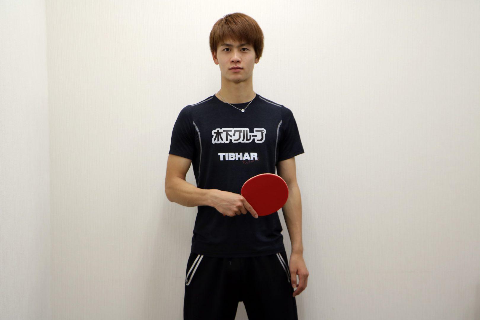 【卓球】Tリーガー田添響 個人で日本初、独ティバー社と用具契約