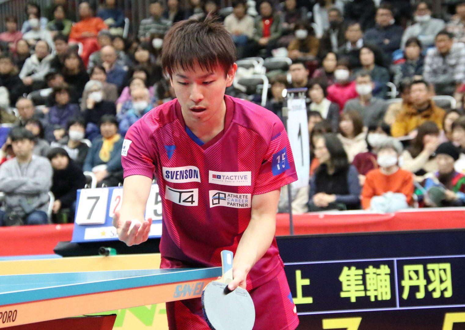 丹羽孝希、高校生王者・戸上に苦杯も「切り替えて頑張りたい」<全日本卓球2020>