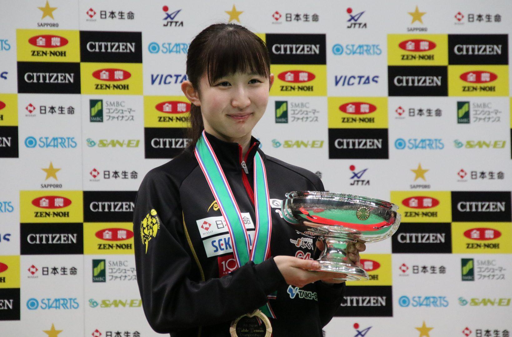【今週の日本の卓球】令和初の全日本卓球選手権 男女単で10代選手が初優勝