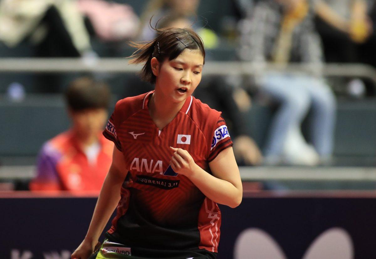 写真:中国選手を下し勝ち上がってきた橋本帆乃香(ミキハウス)/提供:ittfworld