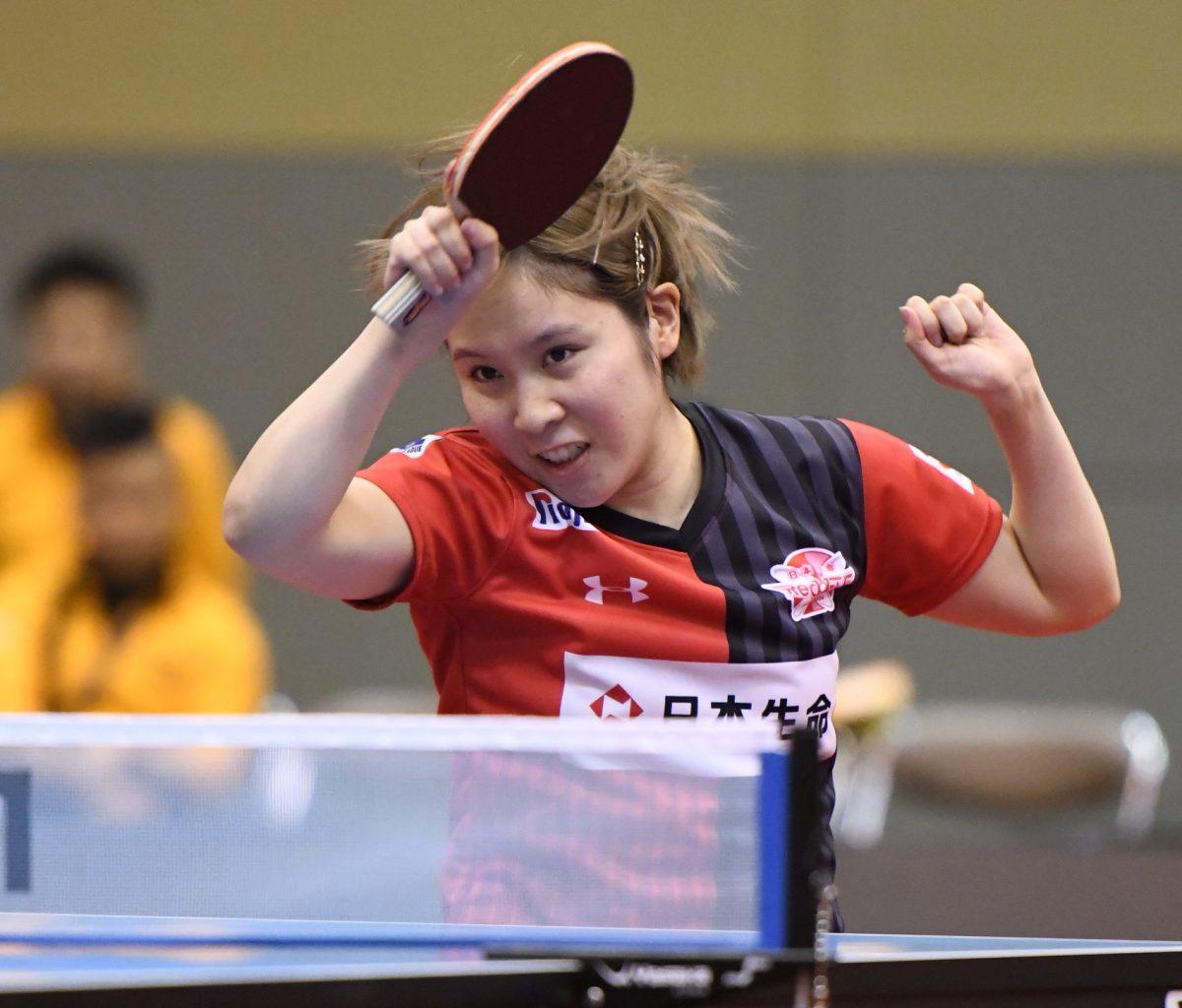 平野美宇、今季初勝利 森さくらが2勝で日本生命首位固め<卓球・Tリーグ試合速報>