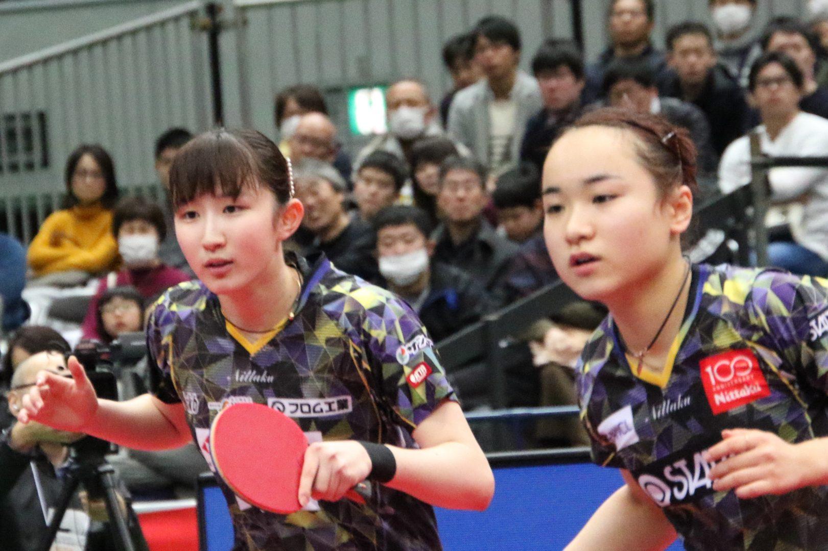 【速報】伊藤・早田ペア、3年連続の決勝進出 3連覇まであとひとつ<全日本卓球2020>