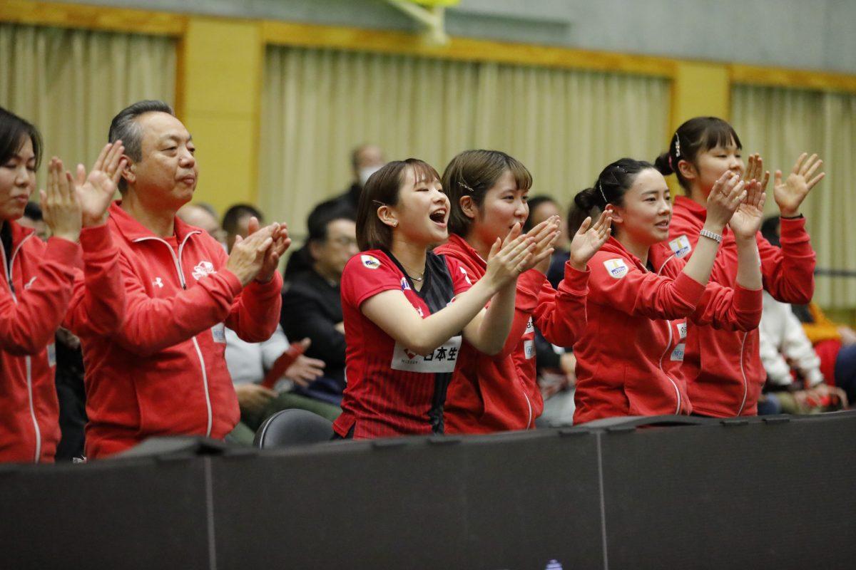 日本生命が4-0でリベンジ ファイナル進出に大きく近づく<卓球・Tリーグ>