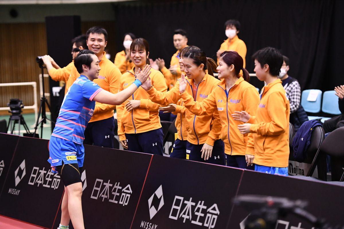 今季最後の大阪ダービーはニッペMに軍配 馮天薇が2勝<卓球・Tリーグ結果速報>