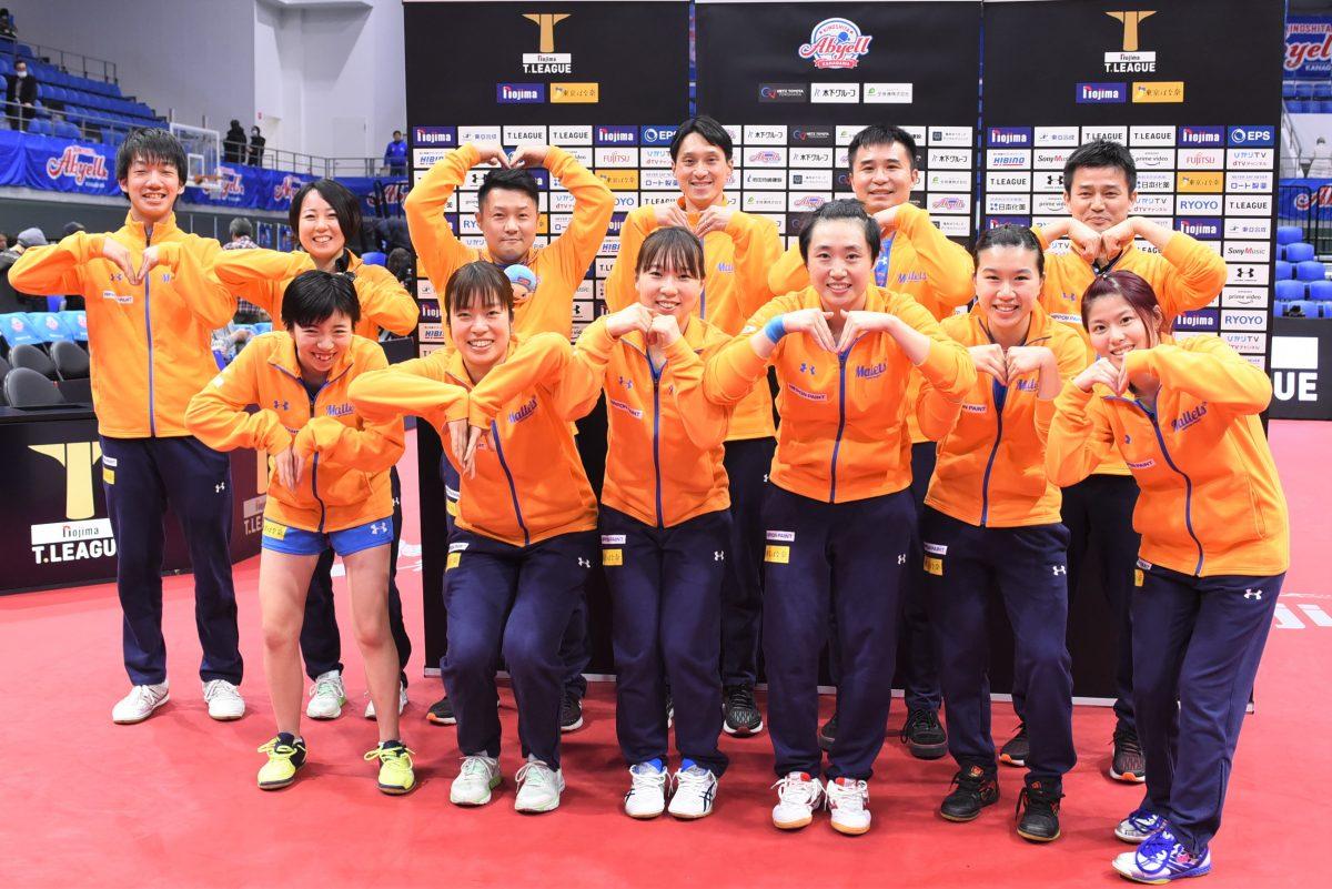 ニッペMがKA神奈川との激戦制す 2ndシーズン最終戦で勝利<卓球・Tリーグ結果速報>
