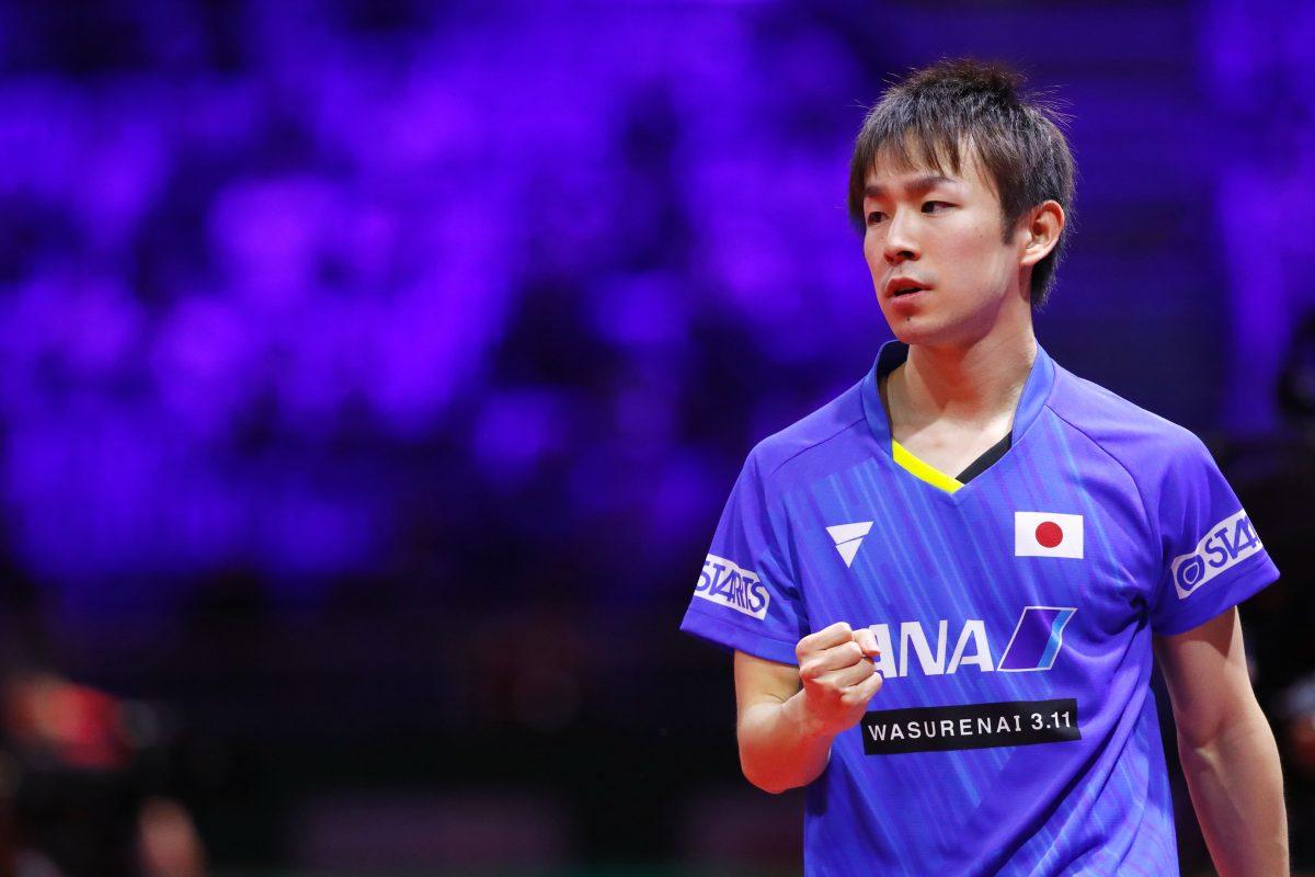 写真:2019年世界卓球での丹羽孝希/撮影:田村翔/アフロスポーツ