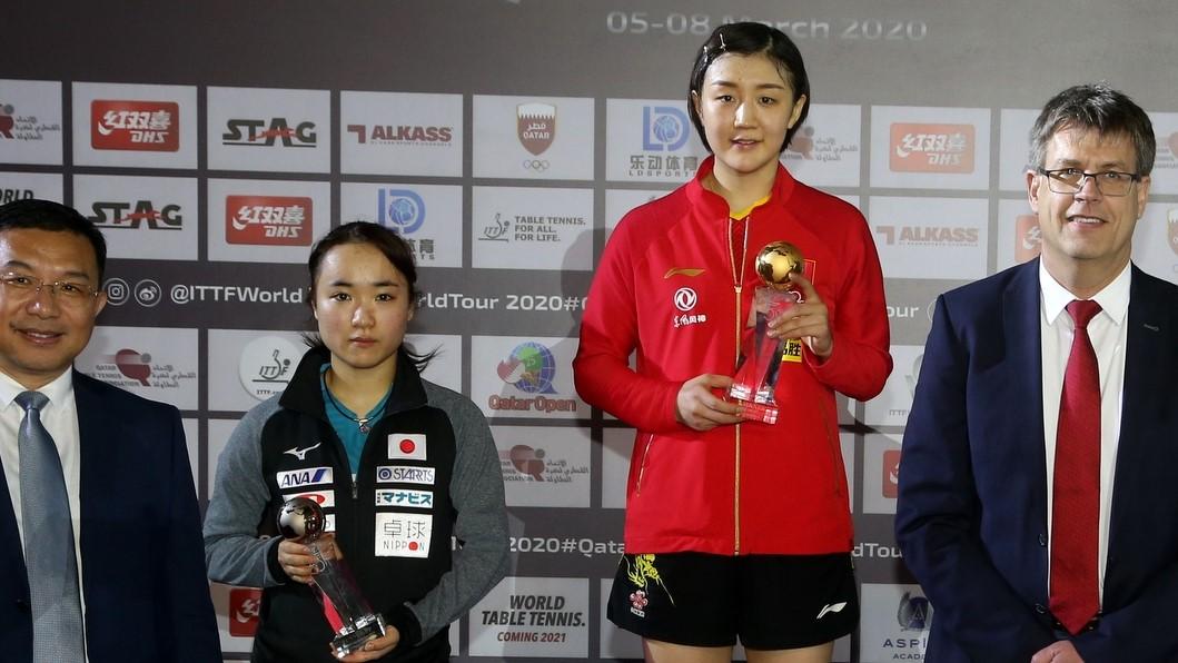 伊藤、2大会連続の表彰台 最強中国は男女ともV<卓球・カタールオープン最終日総括>