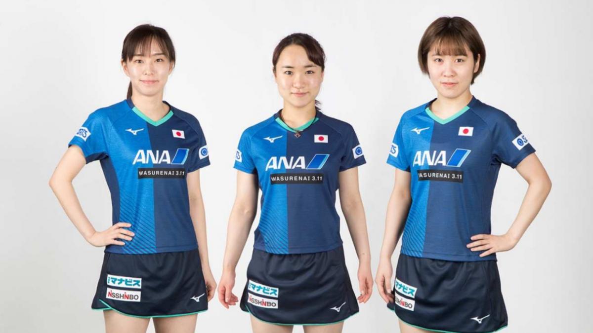 卓球男女日本代表が着用するオフィシャルユニフォーム発表