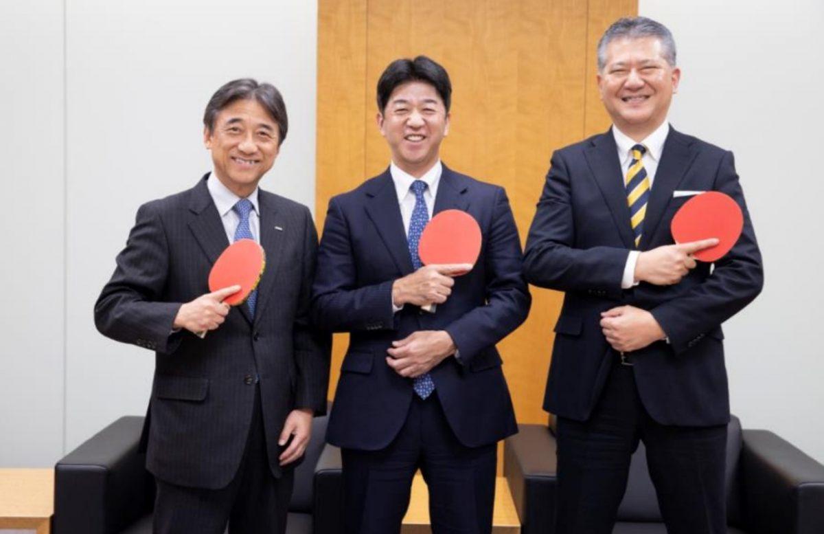 ドコモ・吉澤和弘社長、Tリーグ・松下浩二チェアマン、NTTぷらら・永田勝美社長