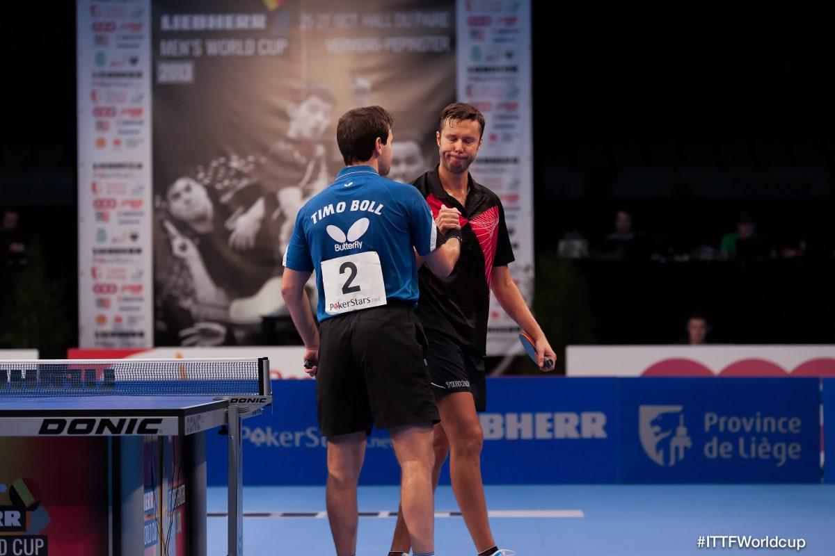 ティモ・ボル(写真:左)とウラジミール・サムソノフ(写真:右)