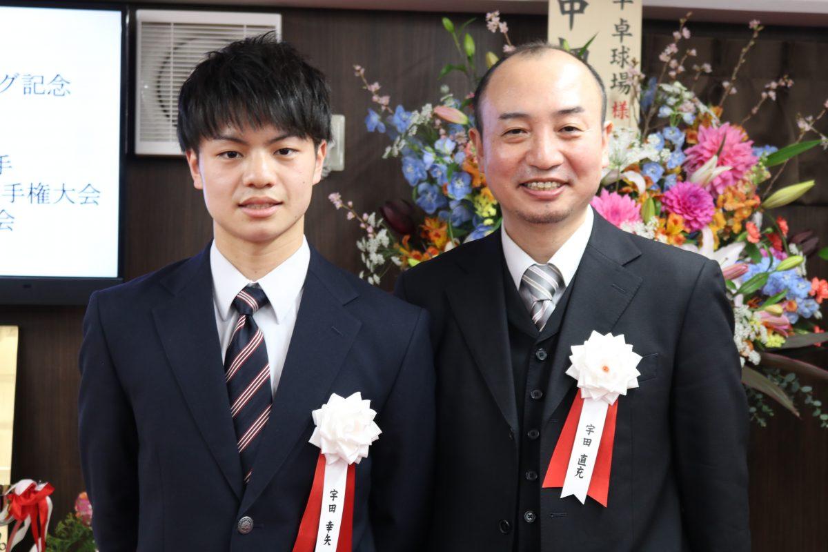 写真:宇田幸矢(左)と父:直充氏/撮影:ラリーズ編集部
