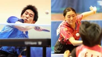 最後の夏、4強 県高校特スポ卓球個人男女シングルス