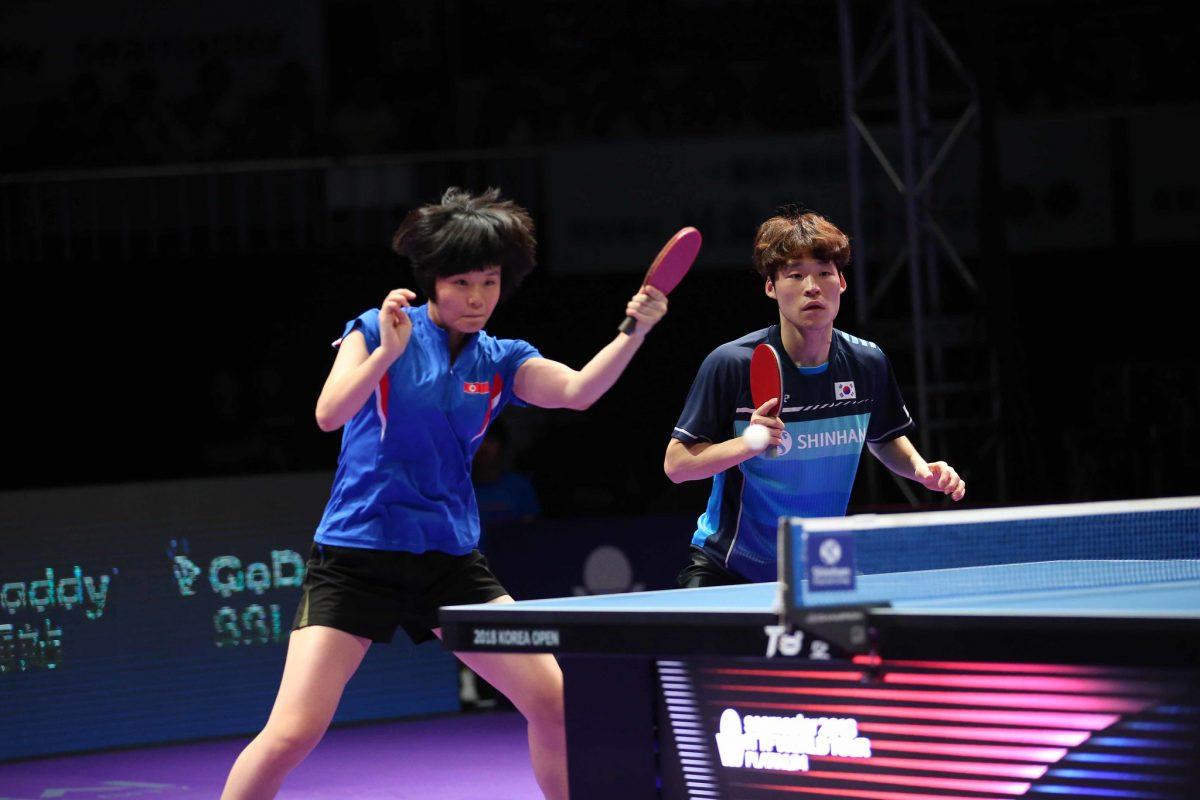 写真:張禹珍(ジャンウジン)と組んだダブルスで韓国オープン優勝のチャ・ヒョシム/提供:ittfworld