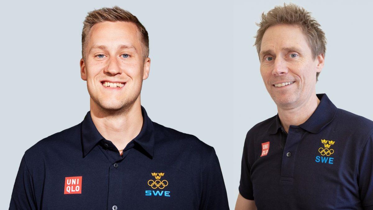 写真:ユニクロのウェアを纏うマティアス・ファルク(写真左・スウェーデン)、ヨルゲン・パーソン氏/提供:ユニクロ