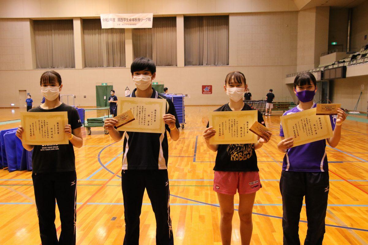 写真:左から村田咲紀、楊奇真、鶴岡菜月、塩見紗希/撮影:ラリーズ編集部