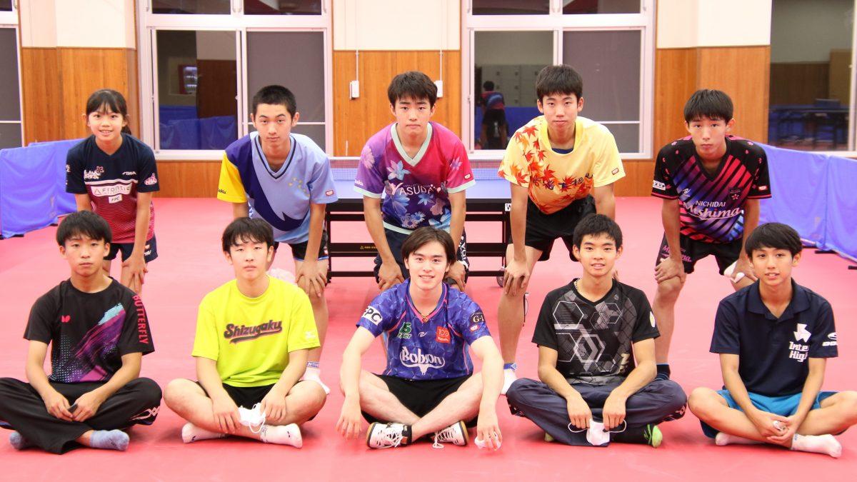 """森薗政崇の""""感謝と恩返し"""" 「卓球界の役に立ちたい」と高校生強化合宿開催"""