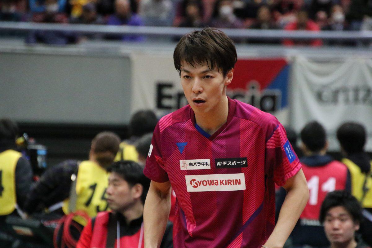 写真:全日本選手権での松平賢二(協和キリン)/撮影:ラリーズ編集部
