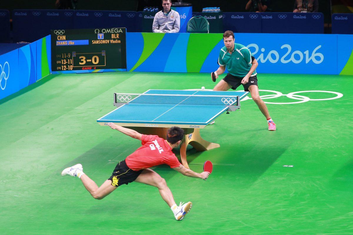 写真:リオ五輪でのサムソノフ/提供:ittfworld
