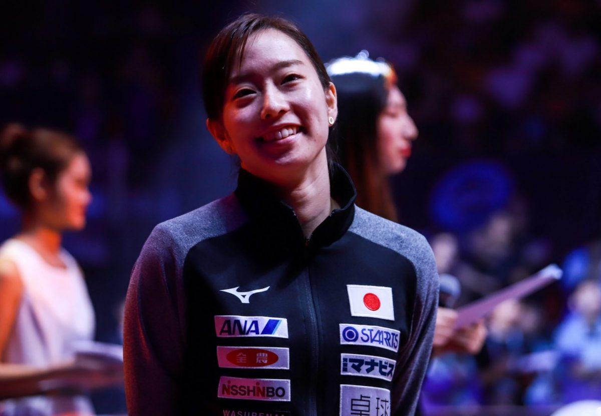写真:中国OP開会式での石川佳純(全農)/提供:Osports Photos/アフロ