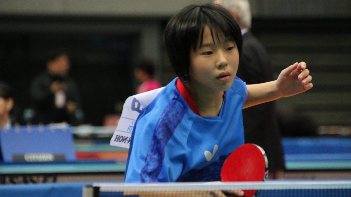 小学生の卓球日本代表決まる 男女ホープスナショナルチーム選考合宿