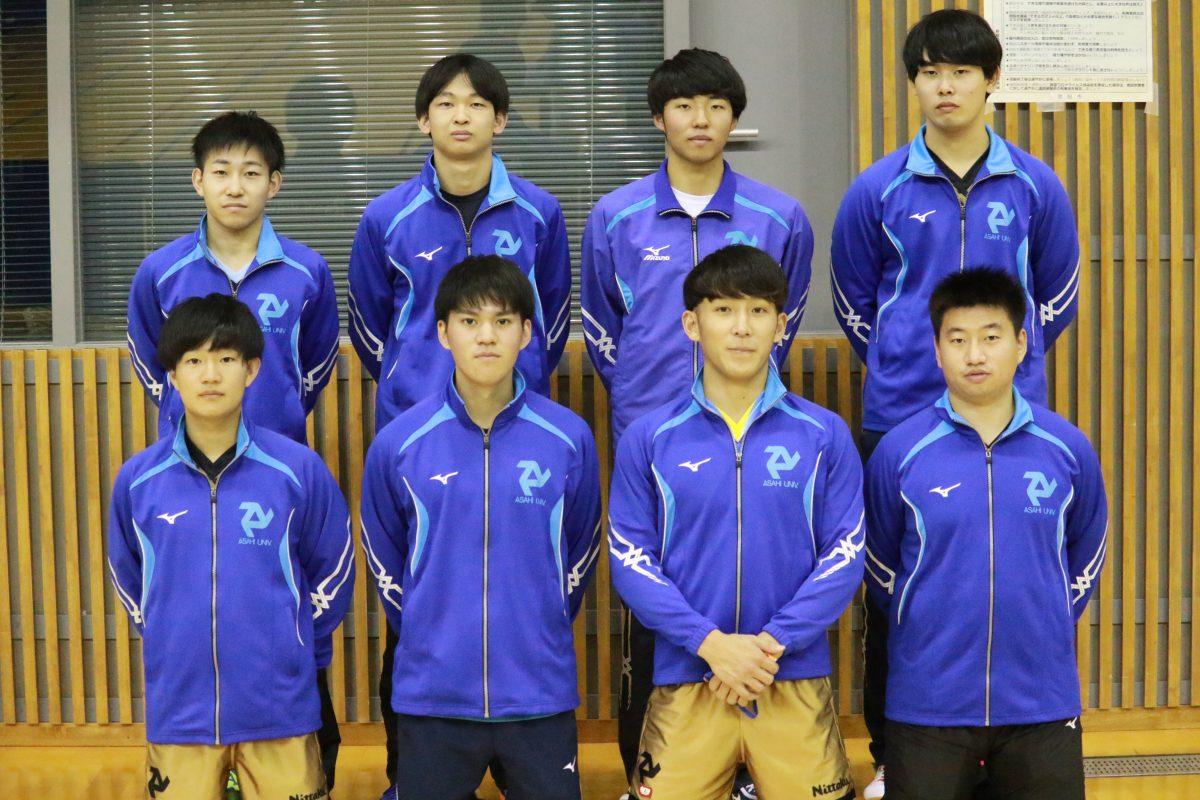 写真:男子1部準優勝の朝日大学/提供:東海学生卓球連盟