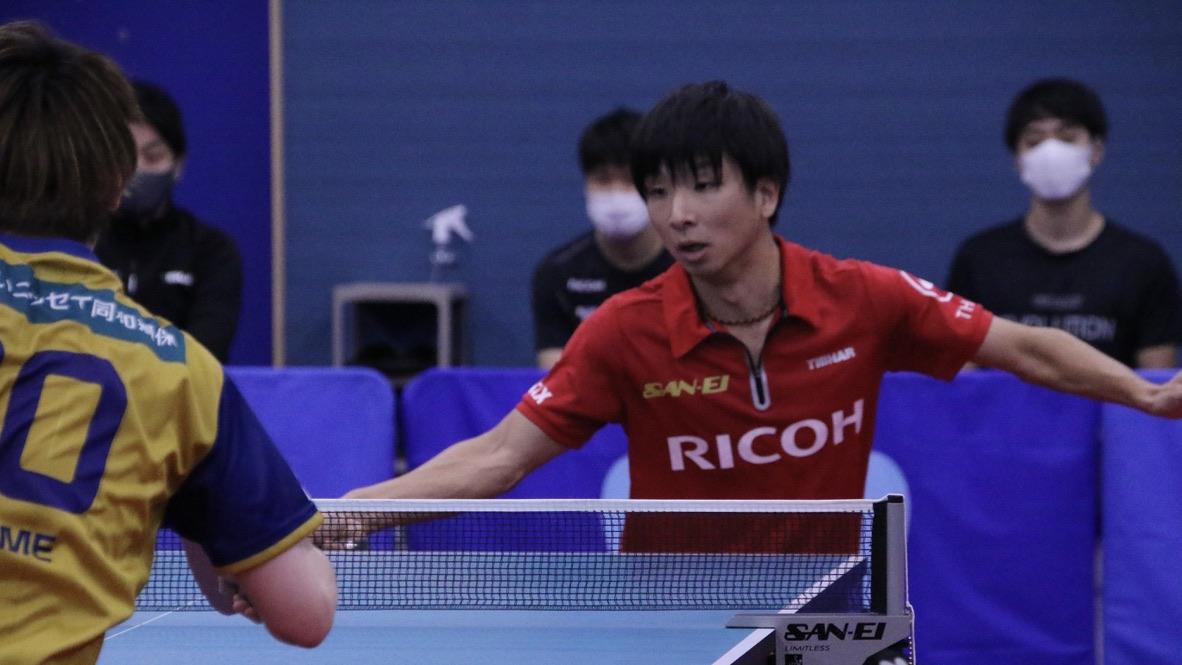リコー、Tリーグ・T.T彩たまと練習試合 鹿屋「緊張して1ゲーム目覚えていない」