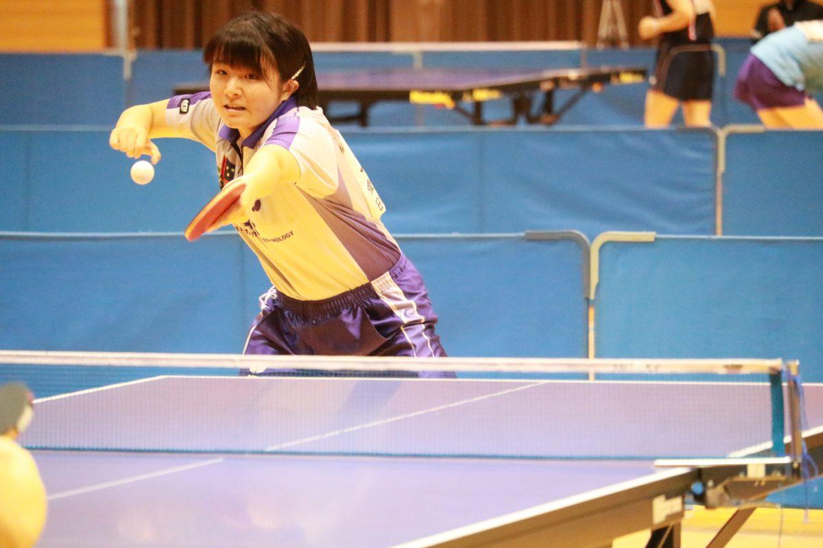 写真:上田真実(愛知工業大学)/提供:東海学生卓球連盟