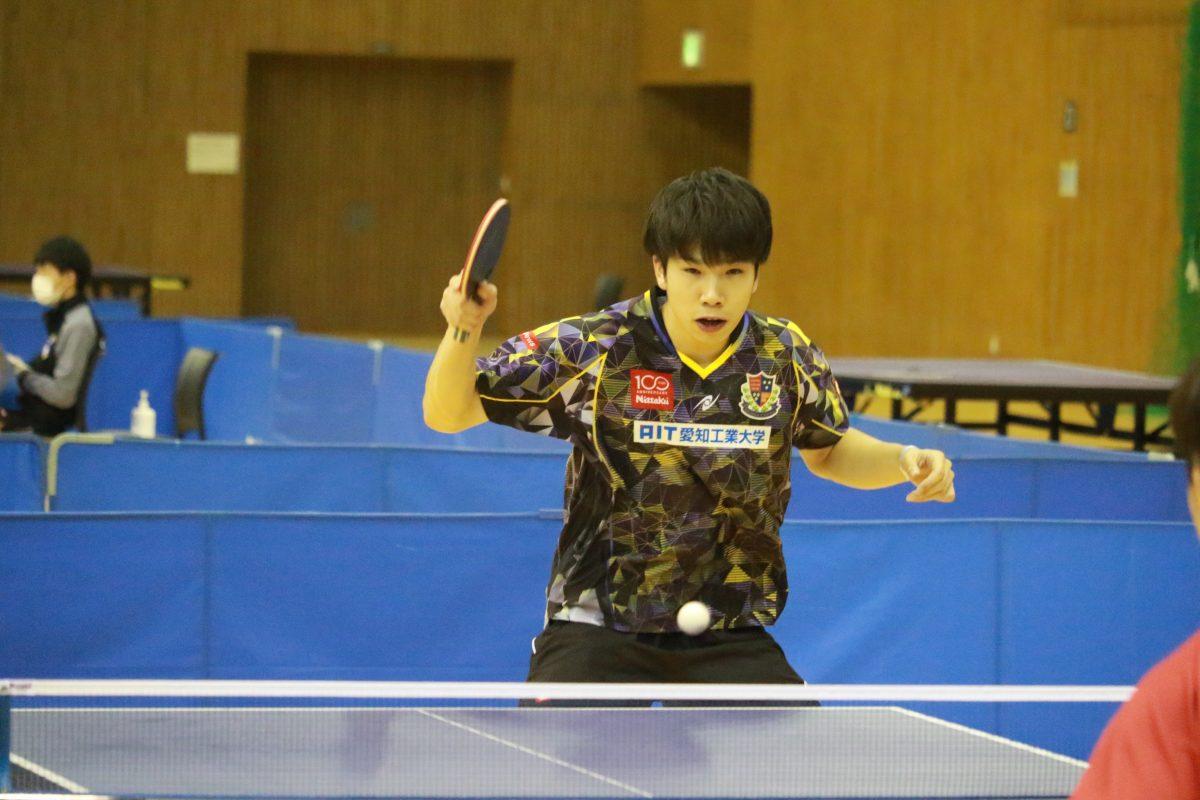 写真:髙見真己(愛知工業大学)/提供:東海学生卓球連盟