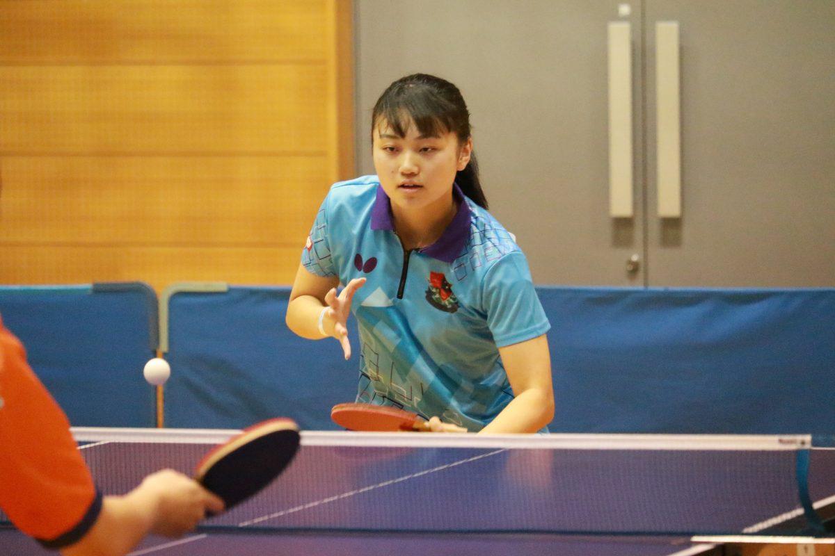 写真:高田菜々美(愛知工業大学)/提供:東海学生卓球連盟