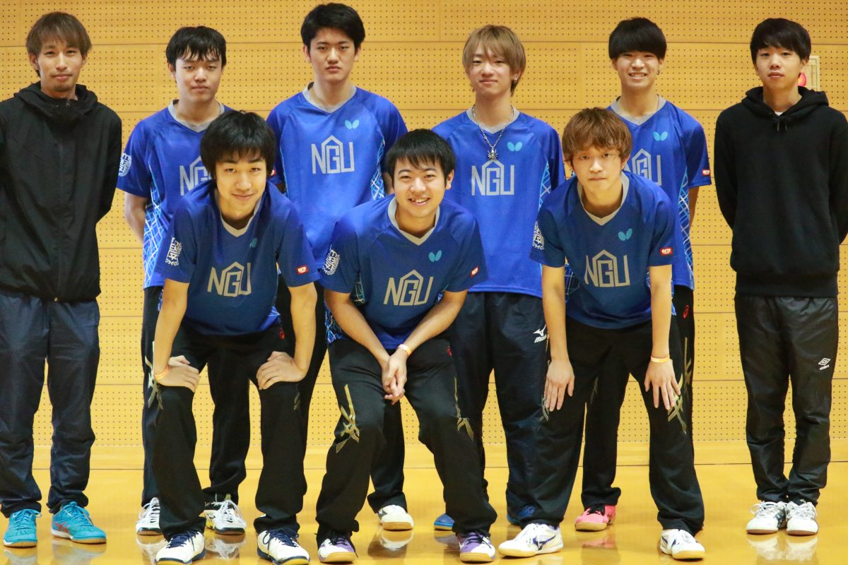 写真:男子3部優勝の名古屋学院大学/提供:東海学生卓球連盟