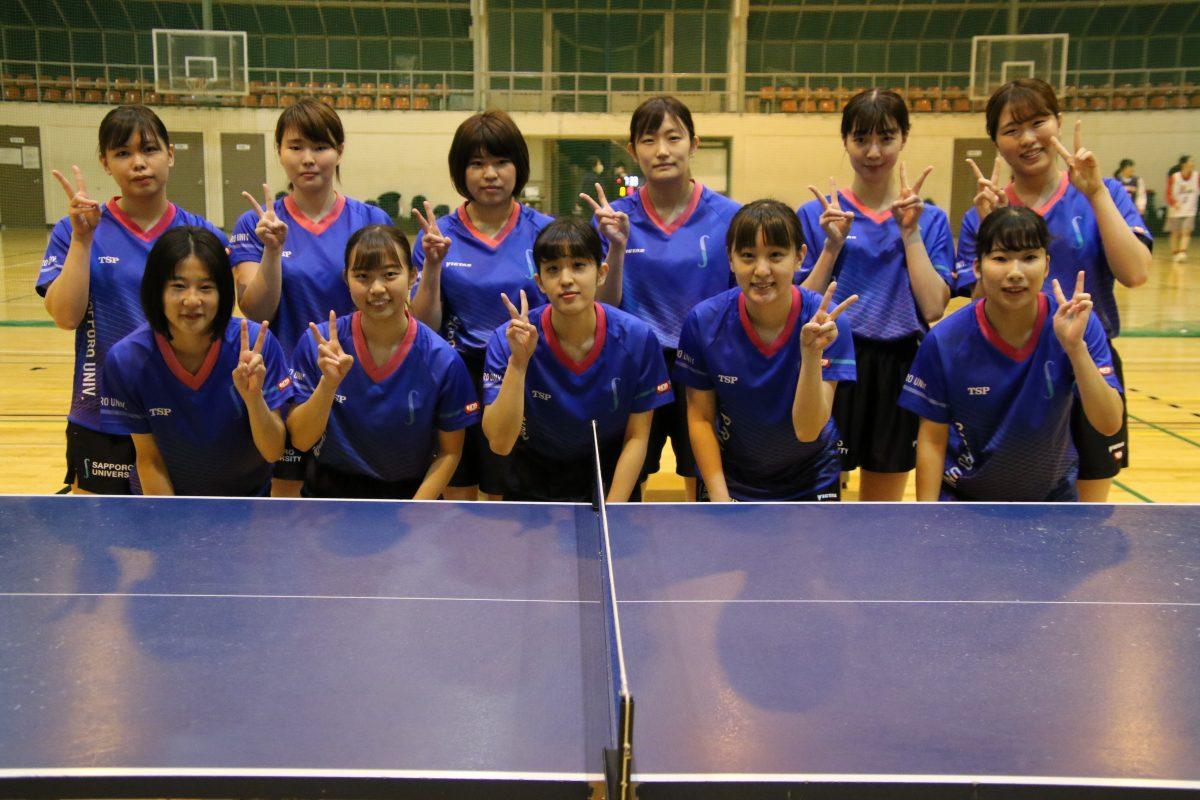 札幌大学女子卓球部メンバー