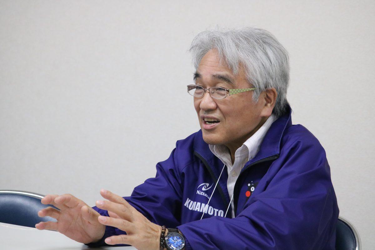 熊本県卓球協会の加藤憲二理事長/