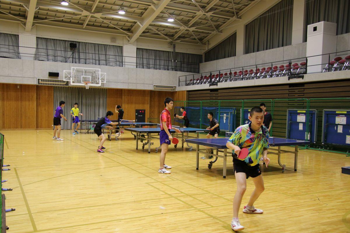 写真:東山高校の練習環境/撮影:ラリーズ編集部