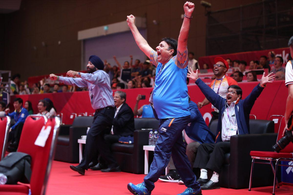 卓球インド男子、史上初のアジア大会メダル獲得の瞬間