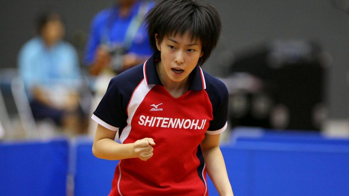 写真:四天王寺高校時代の石川佳純/撮影:アフロスポーツ