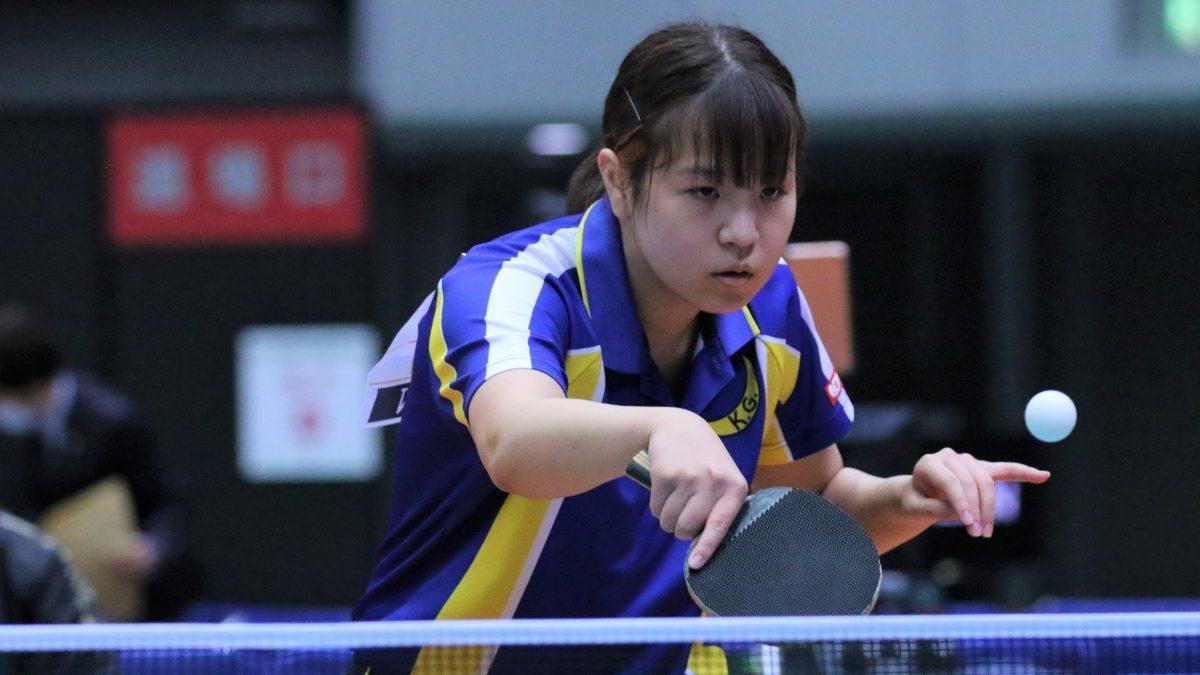 全日本卓球女子シングルス1回戦結果 関学大・村田、Tリーガー下し2回戦へ