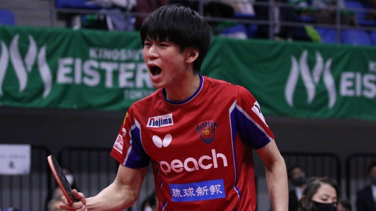 【Tリーグ】琉球アスティーダが戸上隼輔、日本ペイントマレッツが李皓晴と契約更新